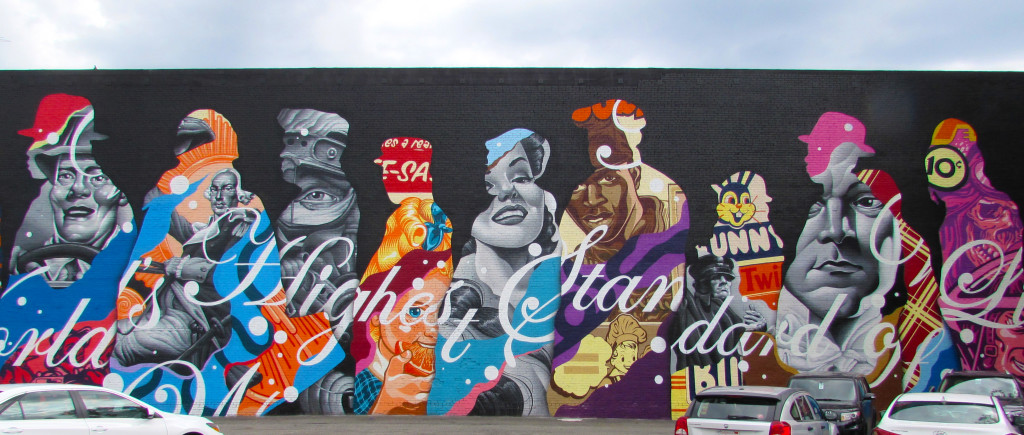 """""""The American Way"""" by Tristan Eaton towers above all"""