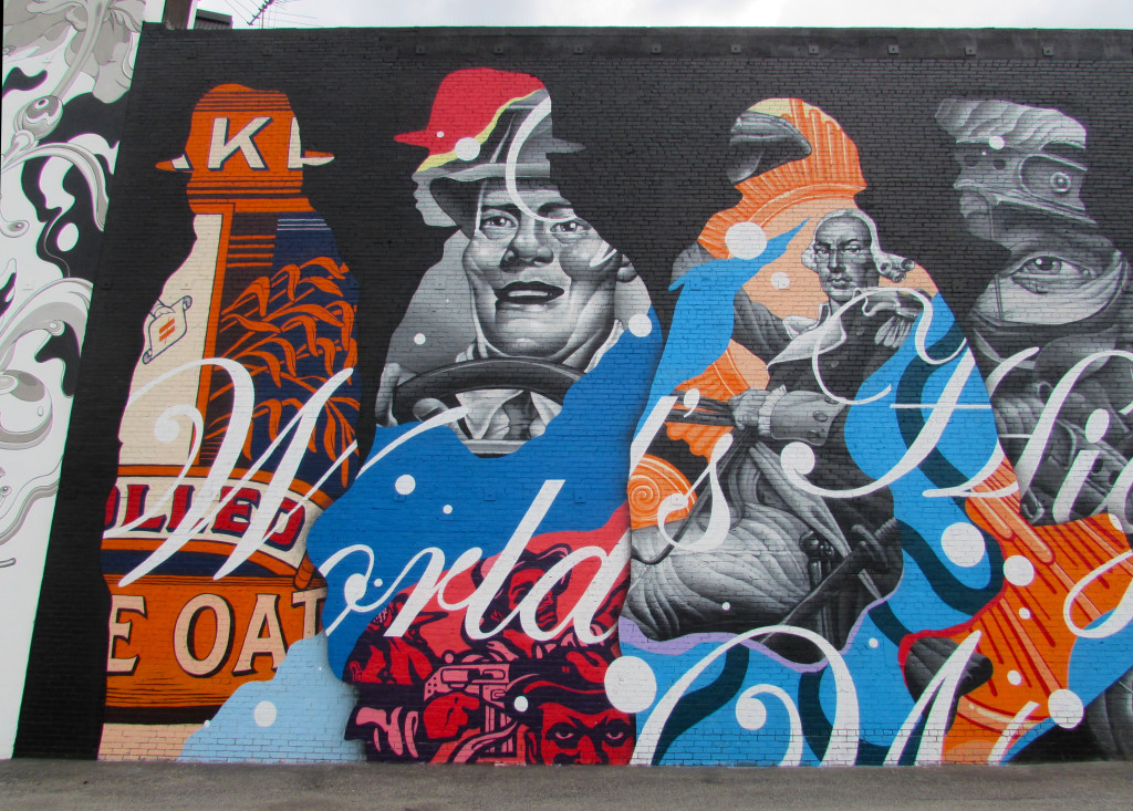 """""""The American Way"""" by Tristan Eaton, left side"""
