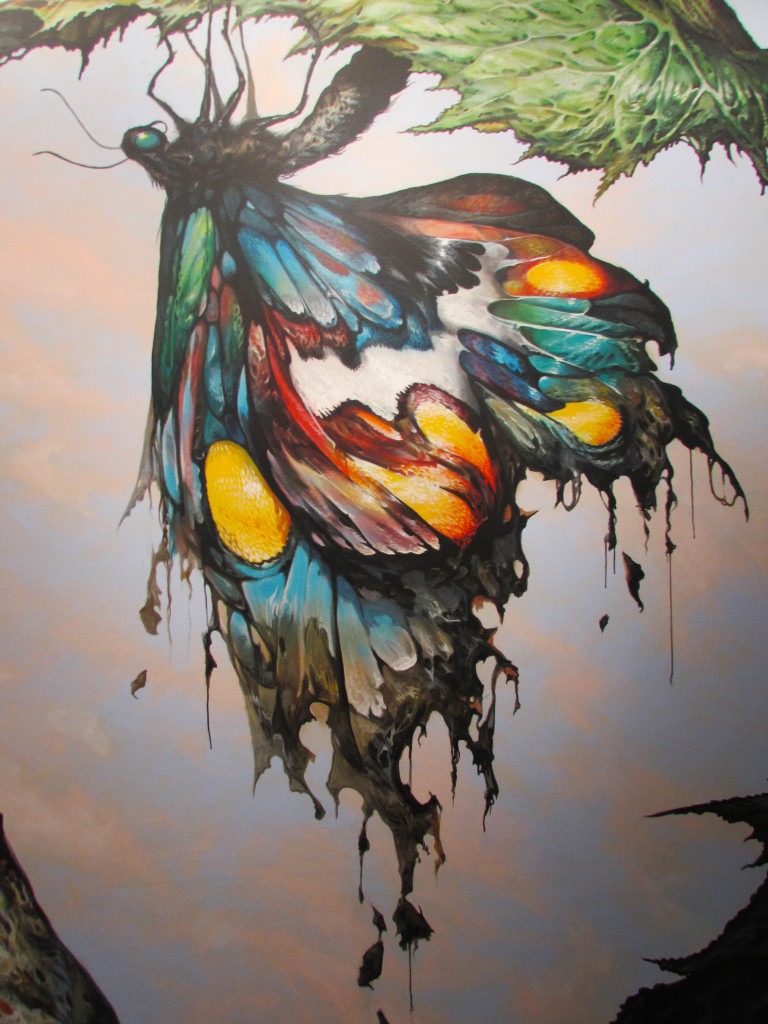 """""""Imago"""" detail.  The colors are literally dripping off the wall."""