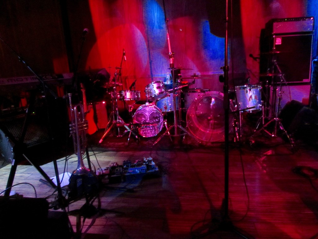 Dave Choe's painted drum set