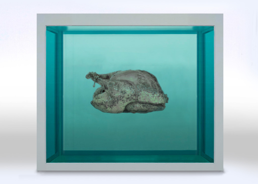 """Damien Hirst"" by Hannah Rothstein from her Thanksgiving Special"