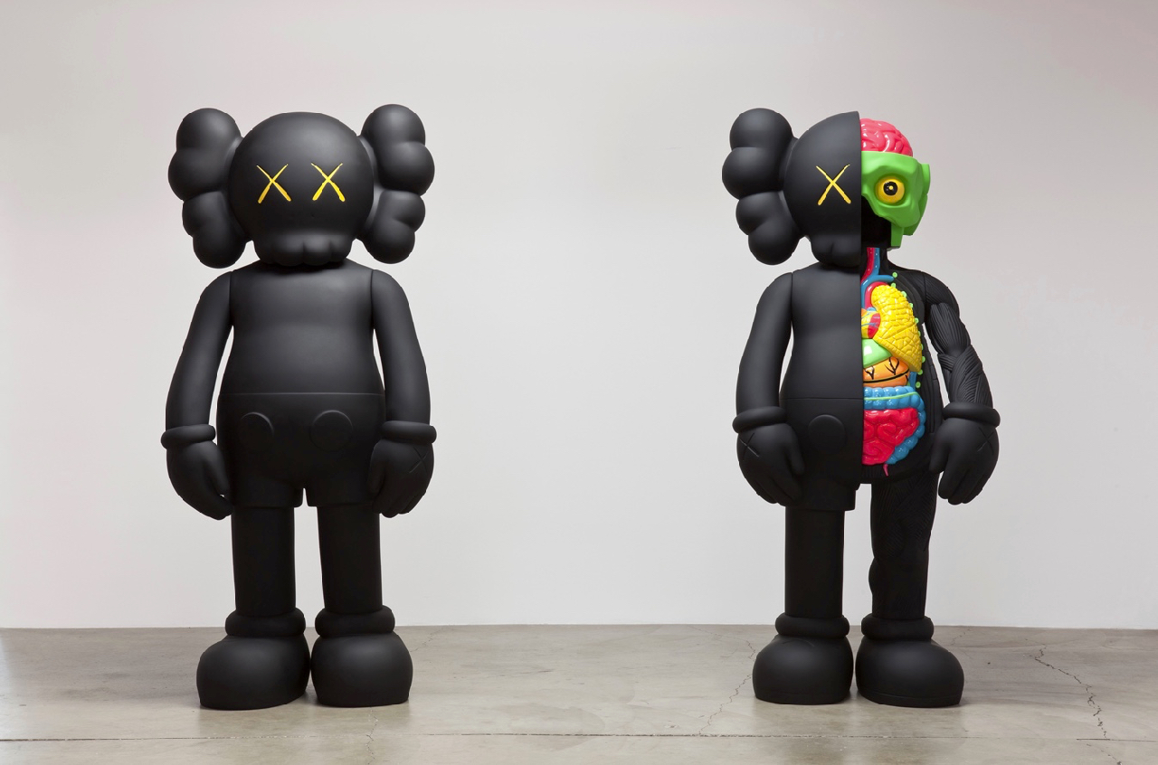 Kaws's iconic Companion in black. via kawsone.com